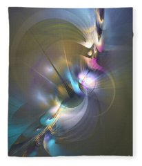 Heart Of Dragon - Abstract Art Fleece Blanket