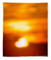 Heart Of The Day Fleece Blanket