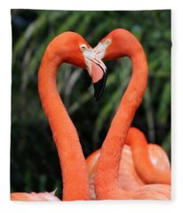Heart To Heart Flamingo's Fleece Blanket