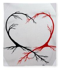 Heart Trees - Arteries Of Love Fleece Blanket