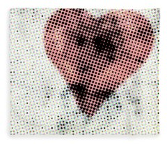 Hearts 21 Square Fleece Blanket