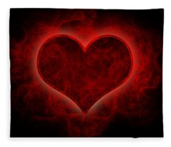 Heart's Afire Fleece Blanket