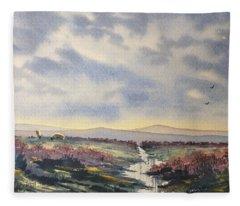 Heather On The Road To Fairy Plain  Fleece Blanket