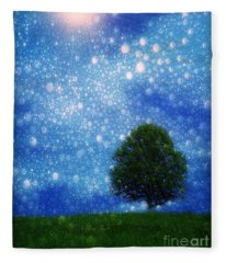 Heaven And Earth Fleece Blanket