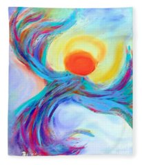 Heaven Sent Digital Art Painting Fleece Blanket