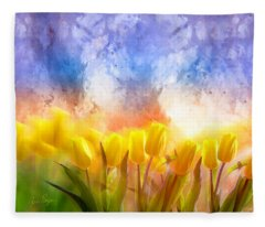 Heaven's Garden Fleece Blanket