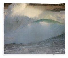 Heavy Surf At Carmel River Beach Fleece Blanket