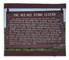 Hee Hee Stone Legend Sign Fleece Blanket