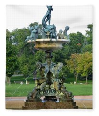 Heffelfinger Fountain Fleece Blanket