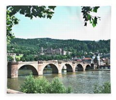 Heidelberg Schloss Overlooking The Neckar Fleece Blanket