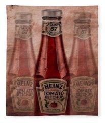 Heinz Tomato Ketchup Fleece Blanket