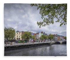 Hello Dublin Fleece Blanket