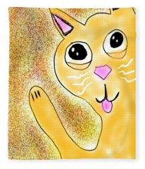 Hello Little Kitty Fleece Blanket