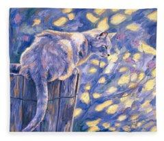 Hemingway Cat Fleece Blanket