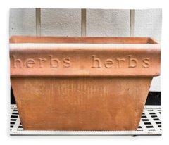 Herbs Container Fleece Blanket
