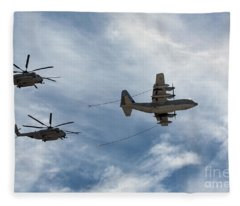 Hercules And Sea Stallions Fleece Blanket