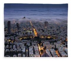 Here Comes The Fog  Fleece Blanket