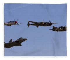 Heritage Flight Of Four Fleece Blanket