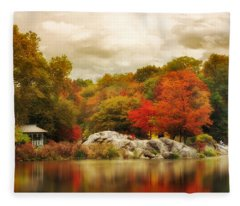 Hernshead In October Fleece Blanket