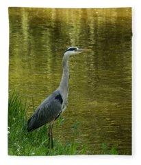 Heron Statue Fleece Blanket