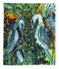 Herons Fleece Blanket