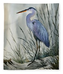 Herons Sheltered Retreat Fleece Blanket