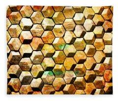 Hexacubes Fleece Blanket