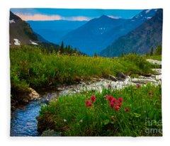 Hidden Lake Pass Fleece Blanket