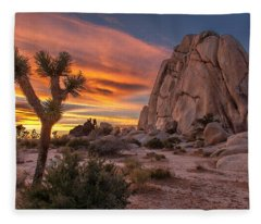 Hidden Valley Rock - Joshua Tree Fleece Blanket