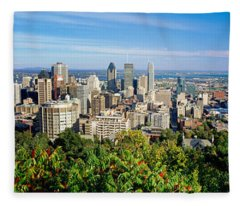 High Angle View Of A Cityscape, Parc Fleece Blanket