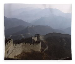 High Angle View Of A Fortified Wall Fleece Blanket