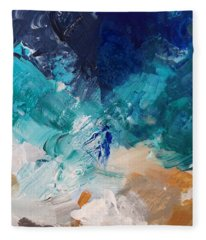 High As A Mountain- Contemporary Abstract Painting Fleece Blanket