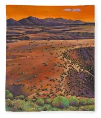 High Desert Evening Fleece Blanket