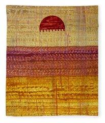 High Desert Horizon Original Painting Fleece Blanket