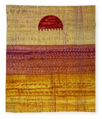 High Desert Horizon Original Painting Fleece Blanket