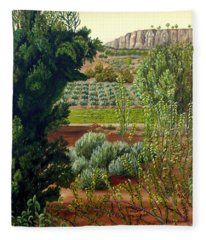 High Mountain Olive Trees  Fleece Blanket