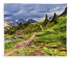 High Mountain Trail Fleece Blanket