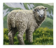 Highland Ewe Fleece Blanket