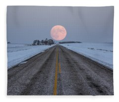 Full Moon Fleece Blankets