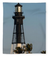 Hillsboro Inlet Lighthouse In The Evening Fleece Blanket