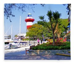 Hilton Head Lighthouse Fleece Blanket