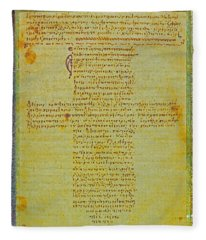 Hippocratic Oath On Vintage Parchment Paper Fleece Blanket