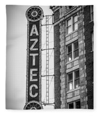 Historic Aztec Theater Fleece Blanket