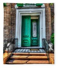 Historic Charleston Sc Door Fleece Blanket