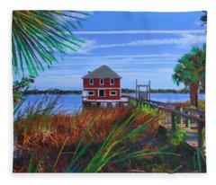Historic Ormond Boathouse Fleece Blanket