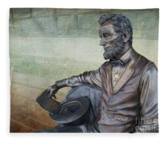 History - Abraham Lincoln Contemplates -  Luther Fine Art Fleece Blanket