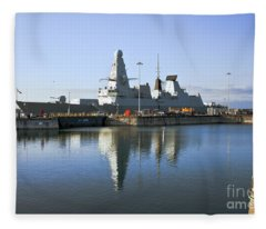 Hms Dauntless Fleece Blanket