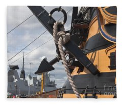 Hms Diamond And Hms Victory Fleece Blanket