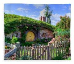 Hobbit Hole 7a Fleece Blanket
