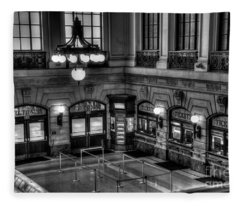 Hoboken Terminal Waiting Room Fleece Blanket